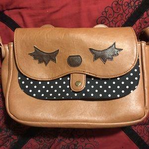 Handbags - Kawaii Bear Purse ModCloth crossbody polka dot